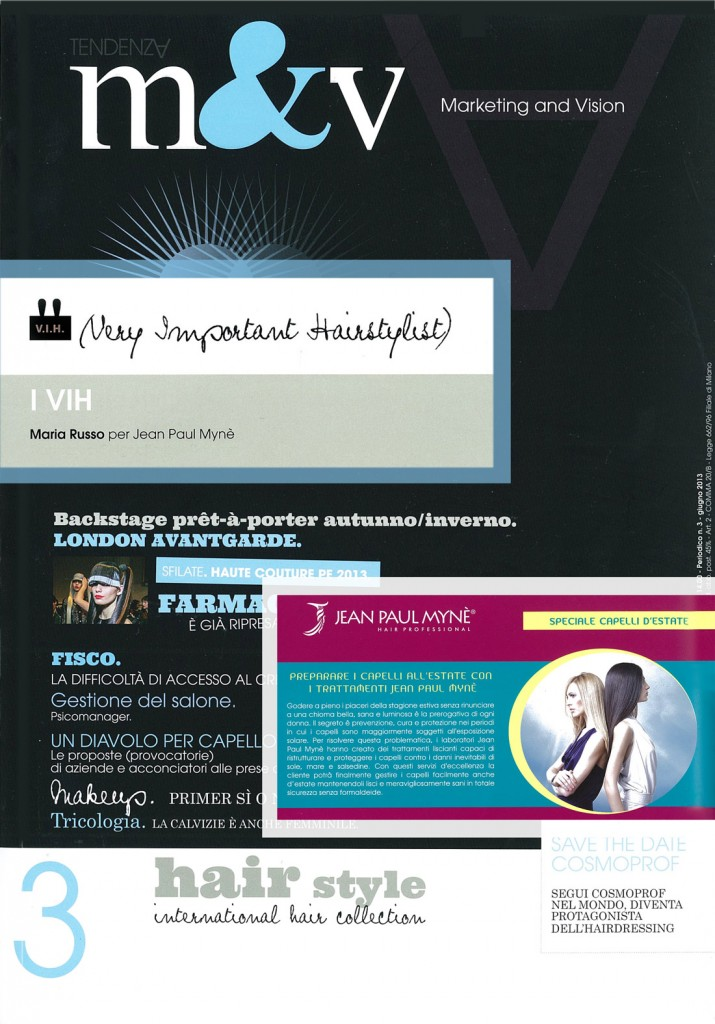 M&V - linea di mantenimento a casa Personal Care shampoo e conditioner