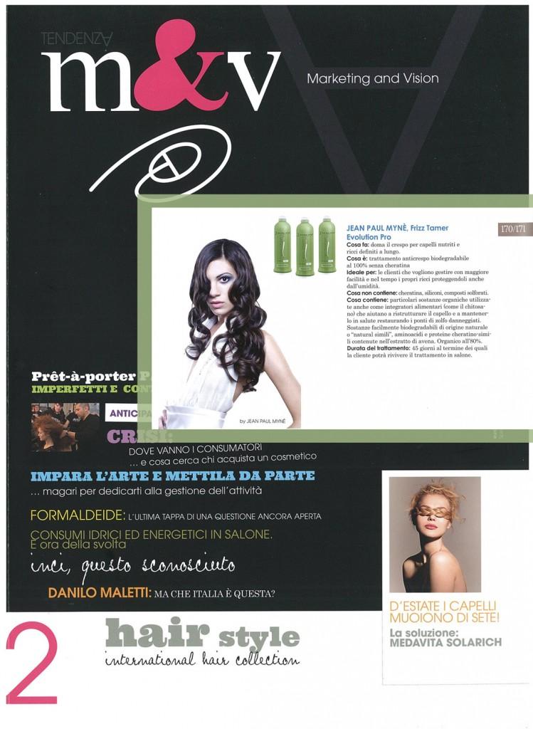 M&V - trattamento anticrespo per capelli evolution pro