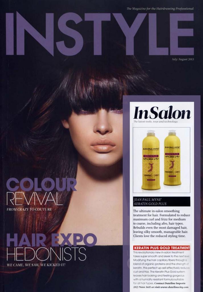 INSTYLE - trattamento lisciante per capelli keratin plus gold