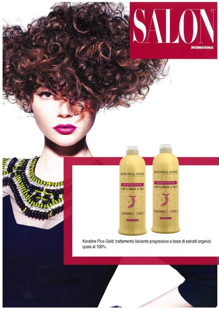 Salon il trattamento stirante per capelli keratin plus gold