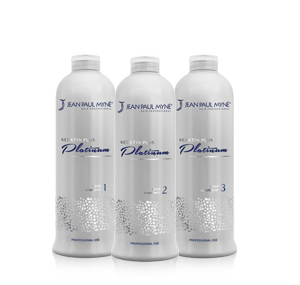 Il trattamento Platinum si compone di soli 3 prodotti: PLATINUM SHAMPOO Step 1,  PLATINUM TREATMENT Step 2, PLATINUM CONDITIONER Step 3.